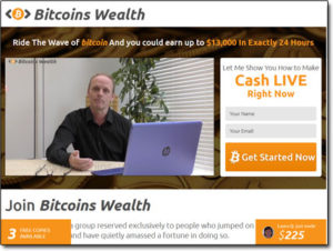 Bitcoins Wealth System Website Screenshot