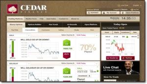Binary options scams cedar finance