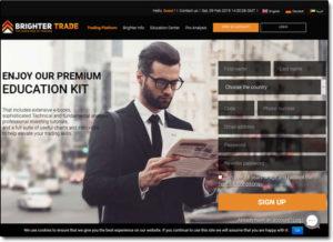 BrighterTrade Broker Website Screenshot