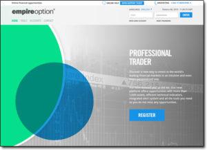 EmpireOption Website Screenshot