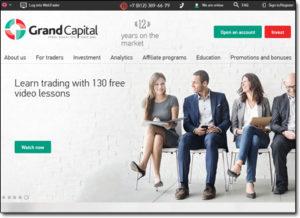 Grand Capital Broker Website Screenshot