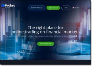 Pocket Option Broker Website Screenshot