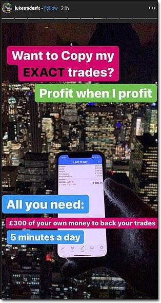 Instagram Forex Traders Copy Trades